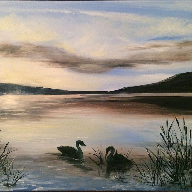 """SBaeckmann - Evening Solitude - 12"""" x 9"""" oils  Framed"""