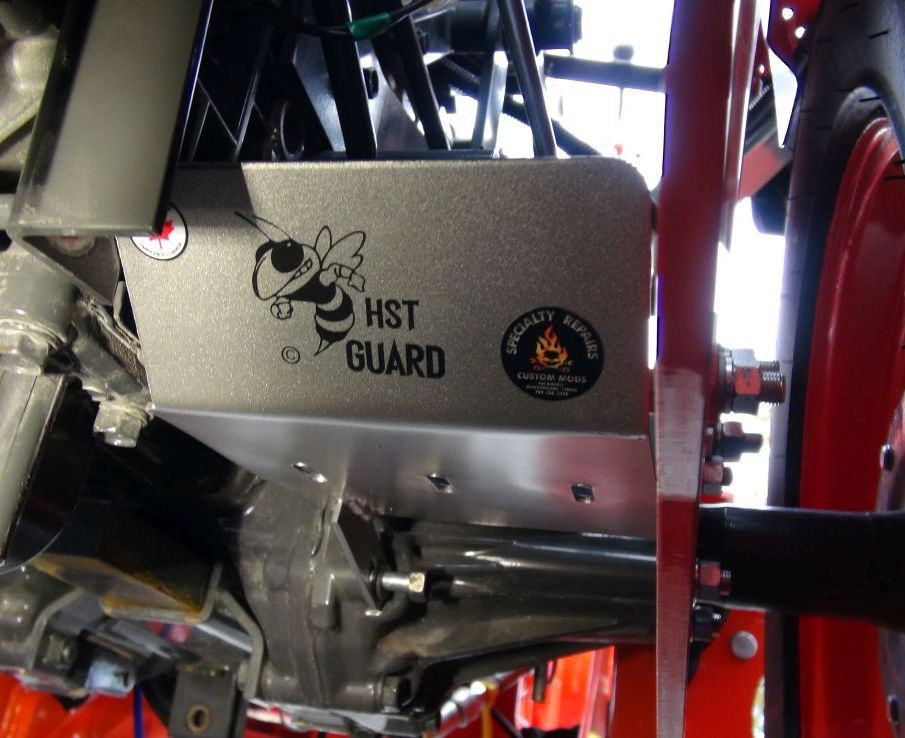 Kubota B2601 HST filter guard. Specialty Repairs Custom Mods