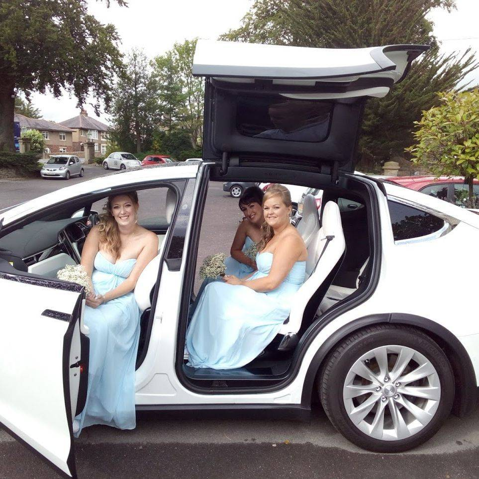 Falcon Tesla Model X Wedding Car