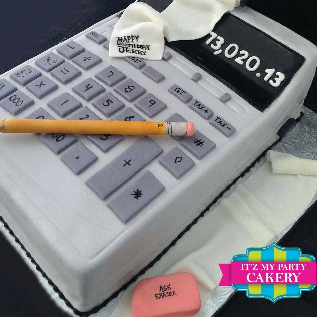 Giant Calculator Carved Dimensional Cake Milwaukee