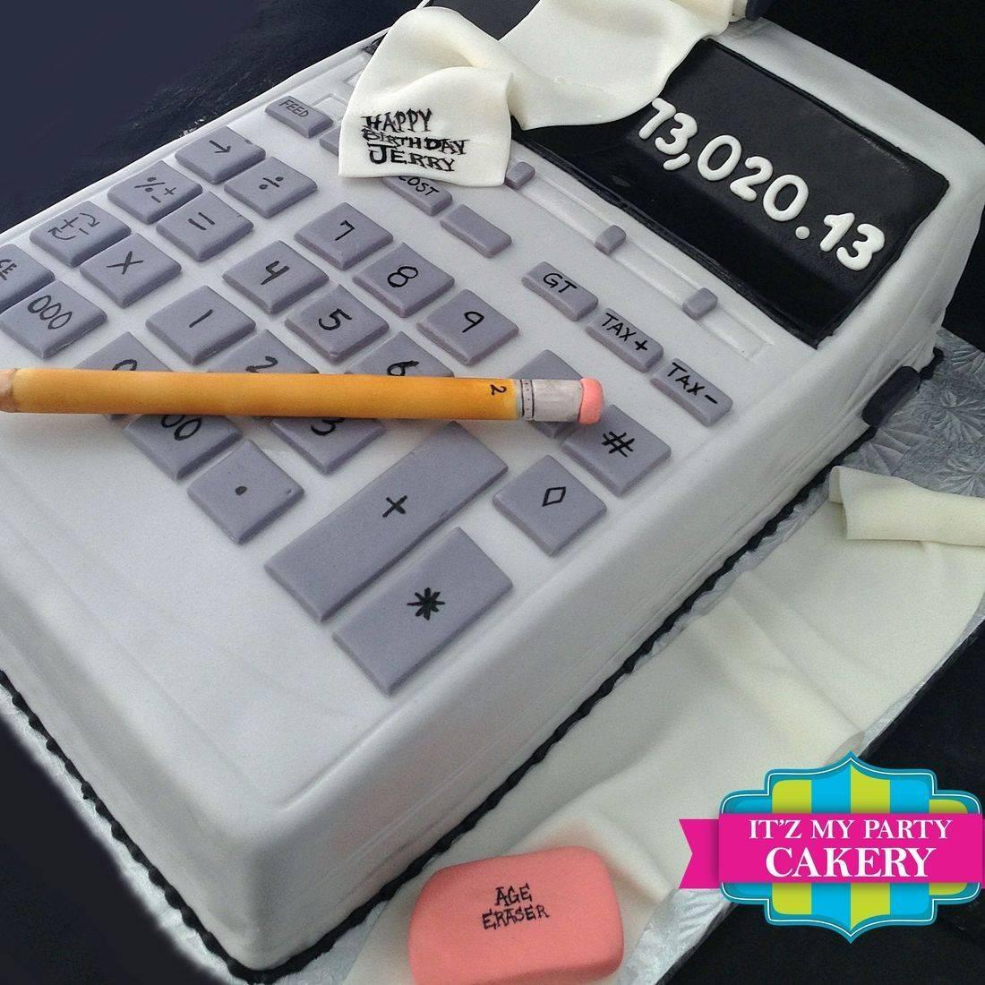Giant Calculator Carved Dimensional Cake Milwaukee
