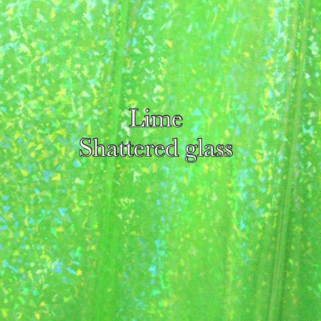 Lime shattered glass