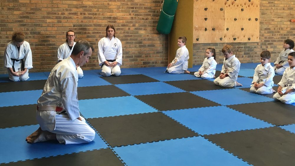 Start of class bow in ceremony