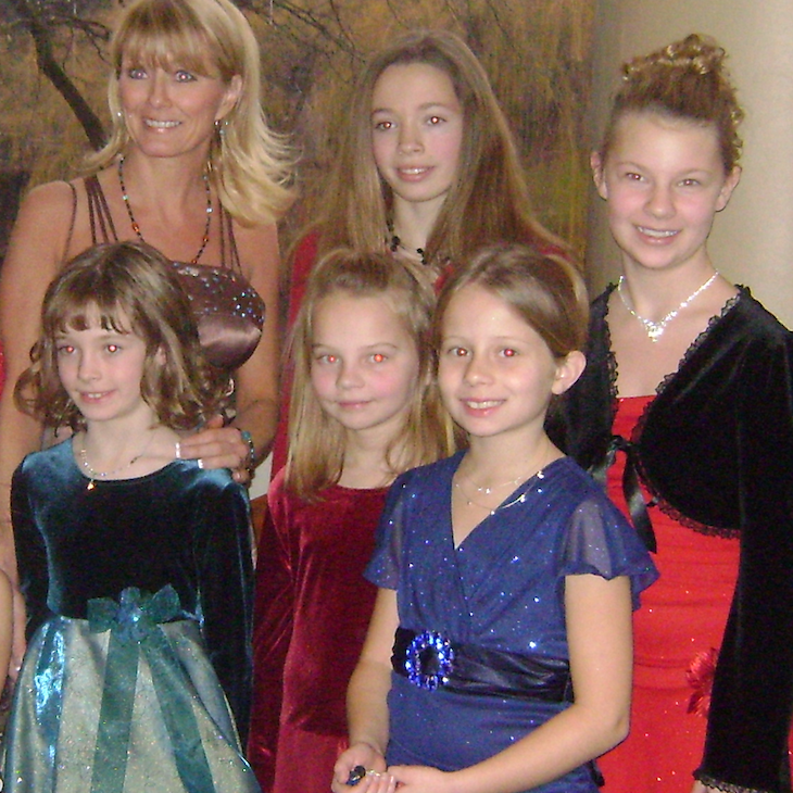 Miss Janine and dance students at the Nutcracker Ballet downtown - recognize any of these tiny dancers?