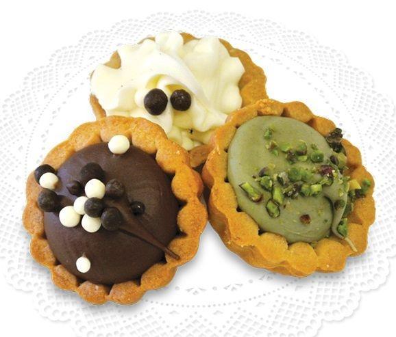 Tartelle Mignon Misto Creme mit verschiedenen Cremefüllungen & Dekorationen