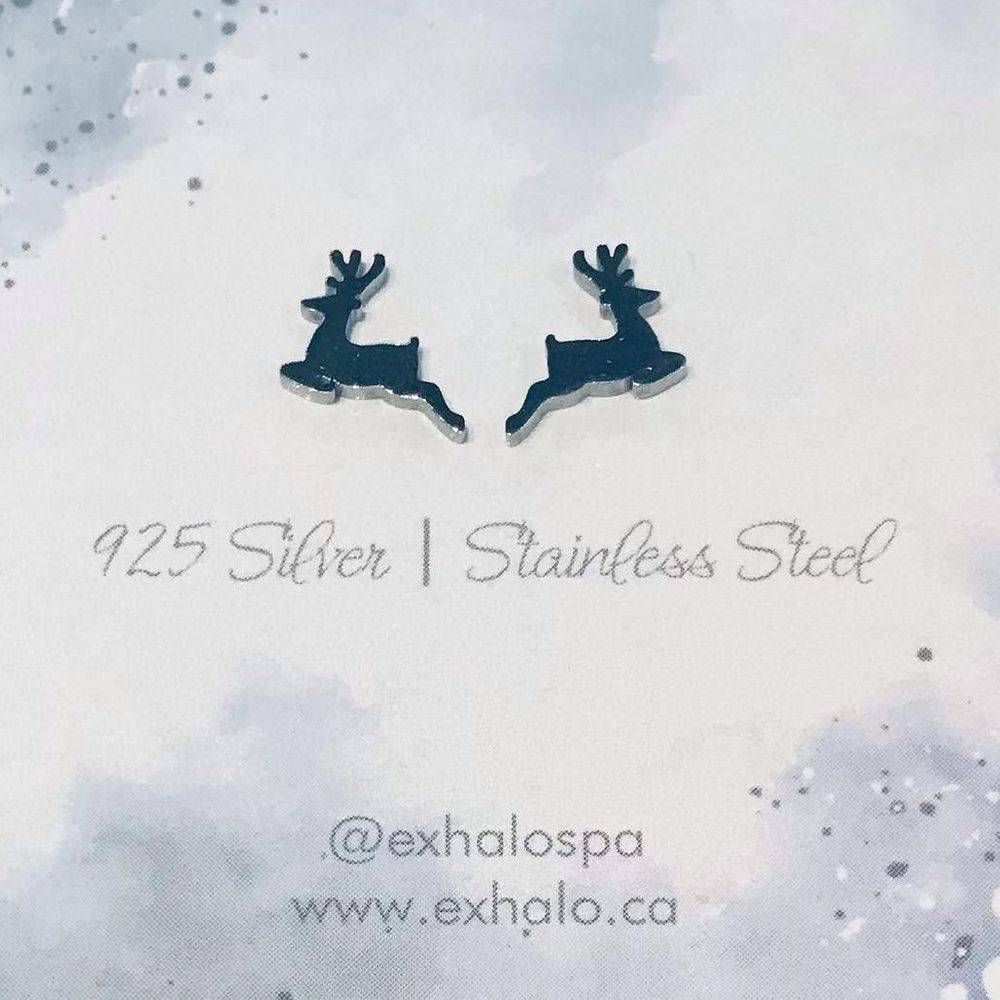 silver holiday earrings