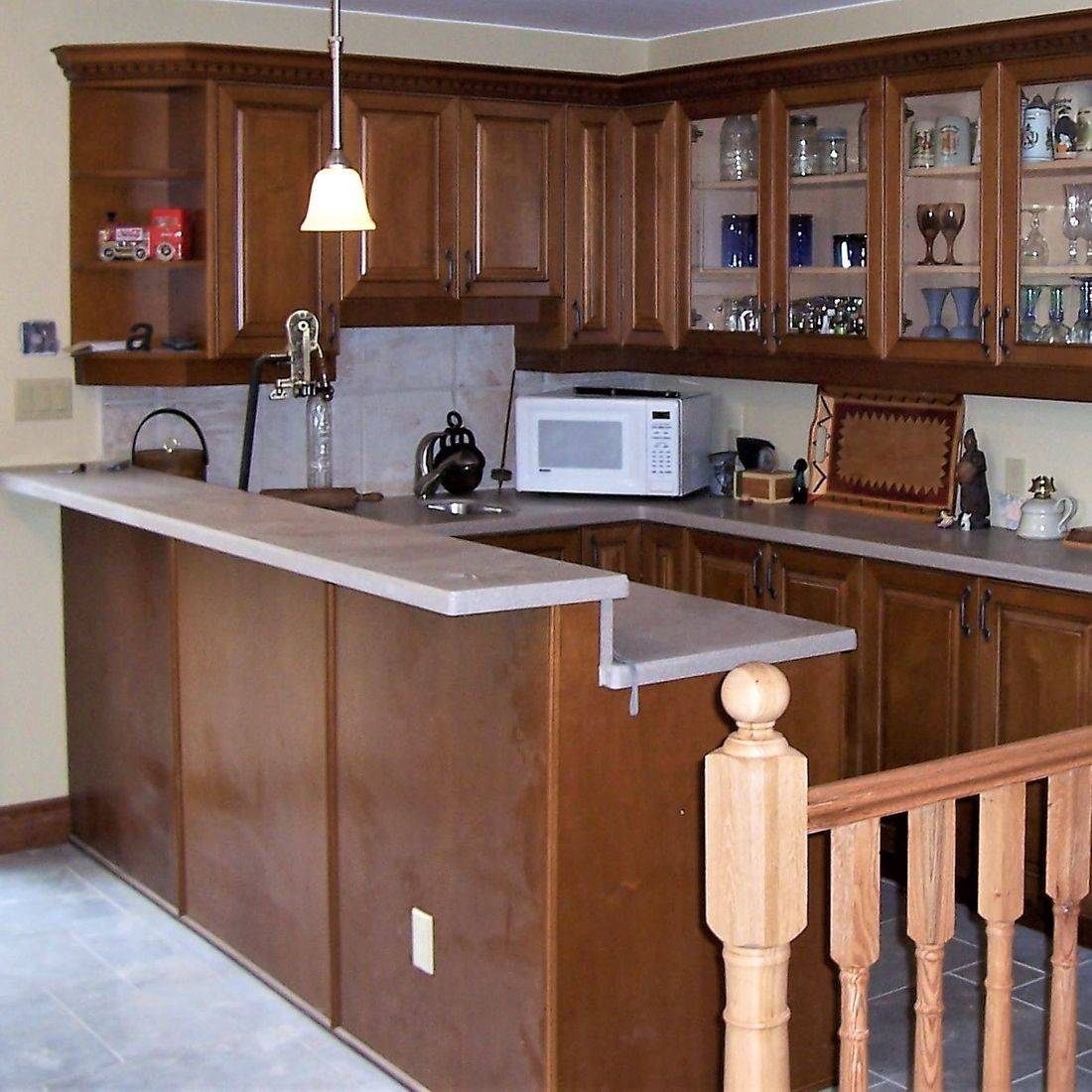 Sibra Kitchens Markham Toronto maple cabinets bar