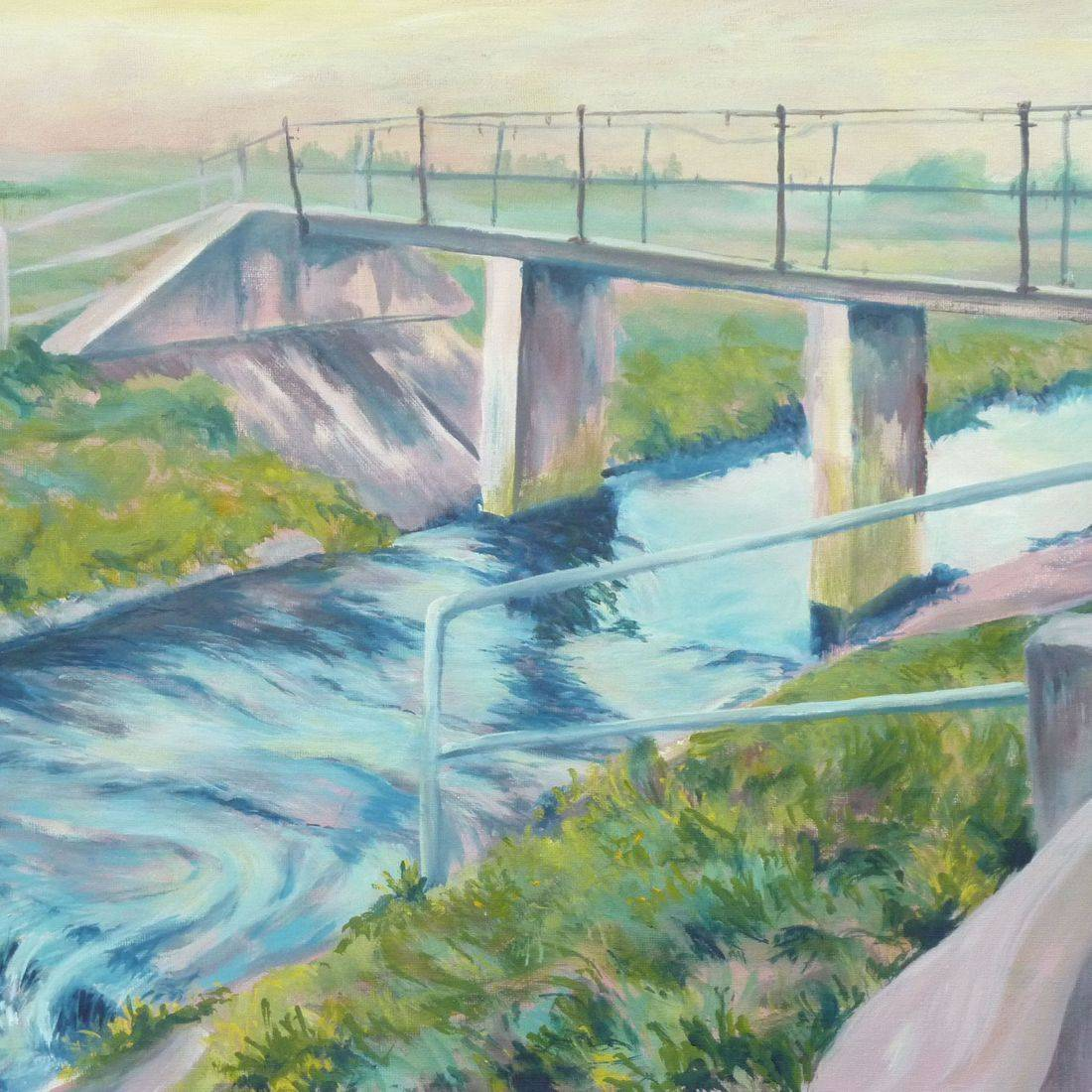 Acrylic landscape painting by Sandra Louisa