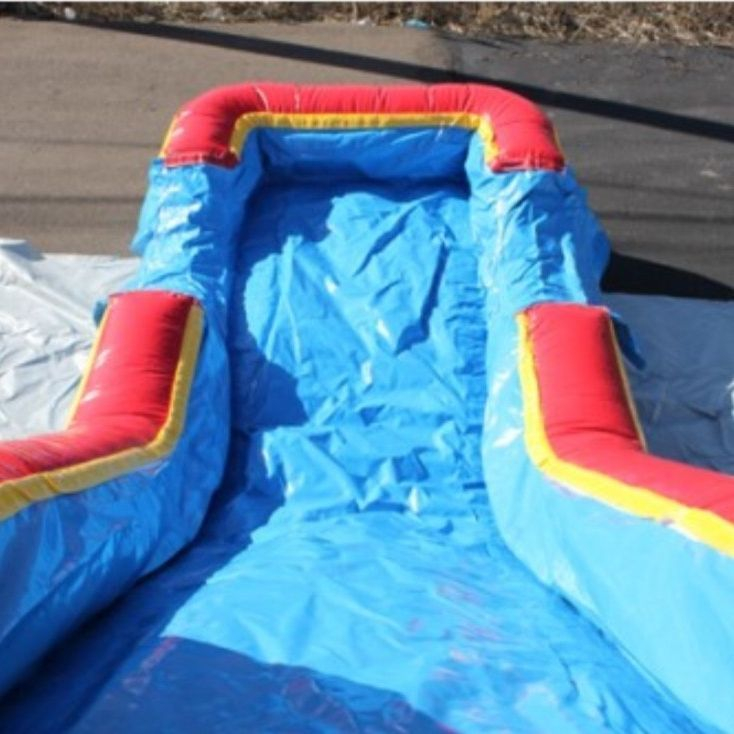 blue castle happy birthday bounce house waterslide combo