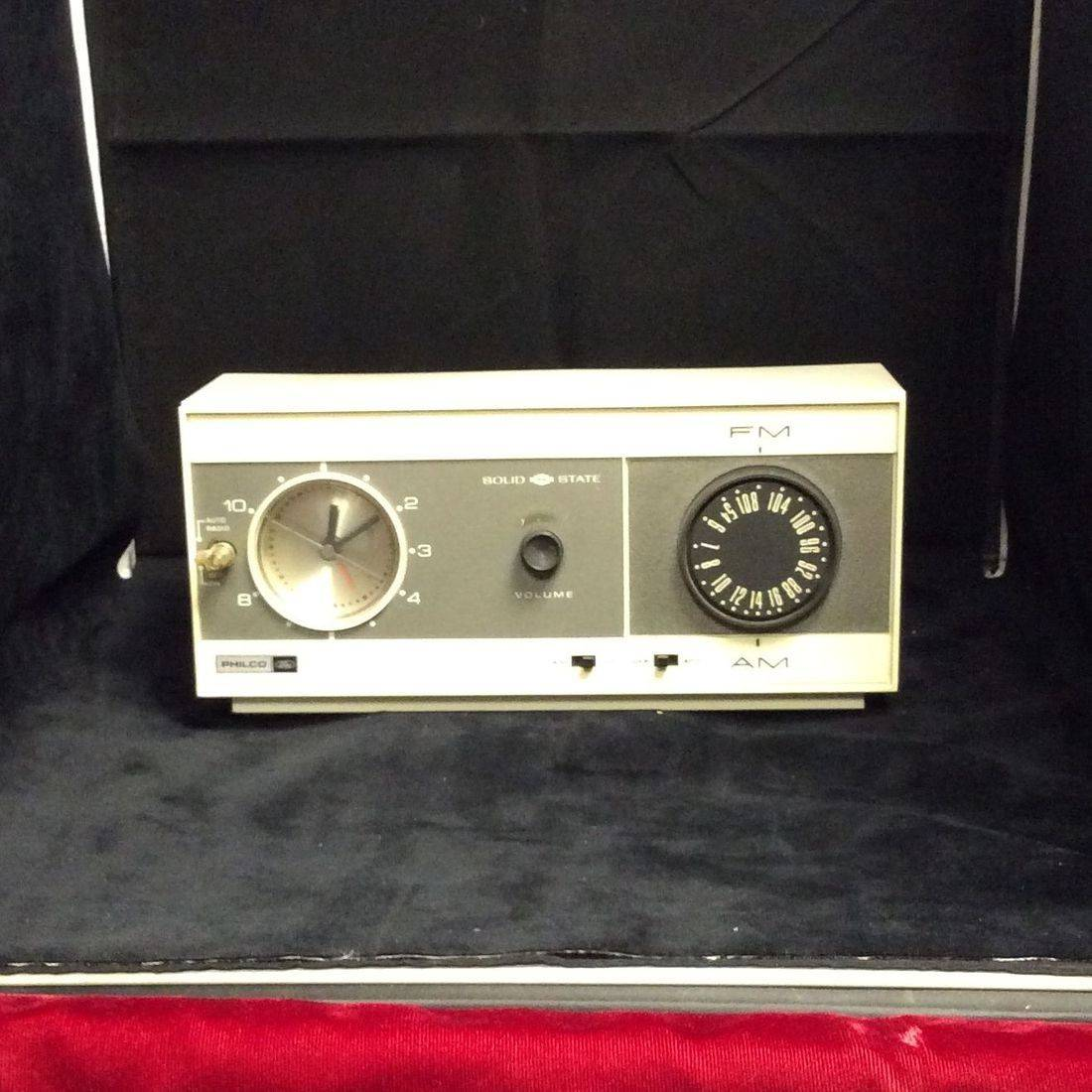 "1960's Philco Ford AM/FM Clock Radio  ""Working Condition""   $35.00"