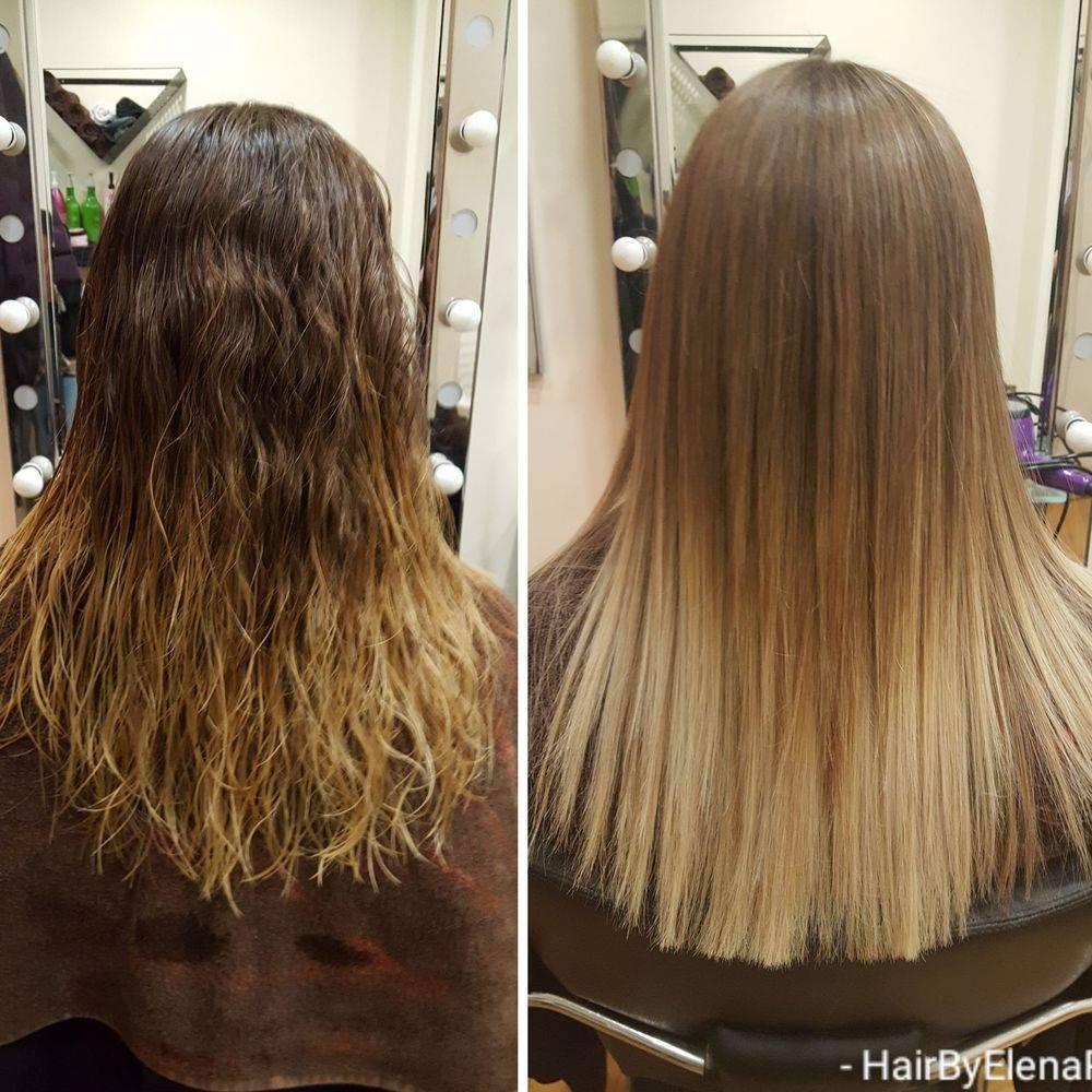 Keratin treatment curly blow dry hair salon Tottenham hairdresser