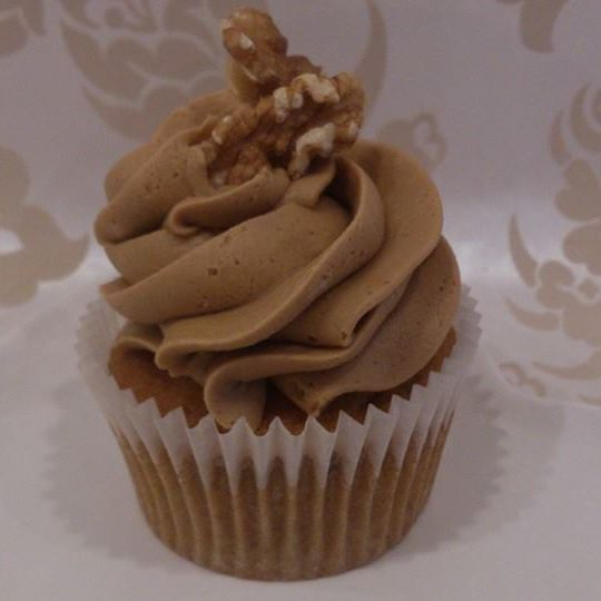 Vegan Coffee Wallnut Cupcake