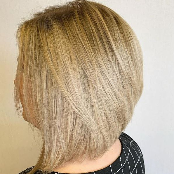 mid length bob..blonde highlights