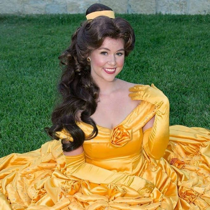 Princess Belle for children's birthday parties in San Antonio