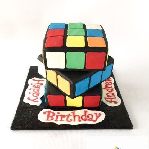 Rubik's Cube Birthday Cake