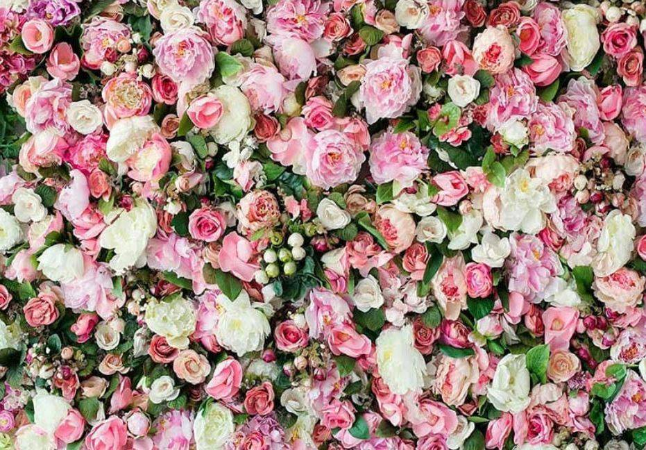Pink Flower Party Backdrop