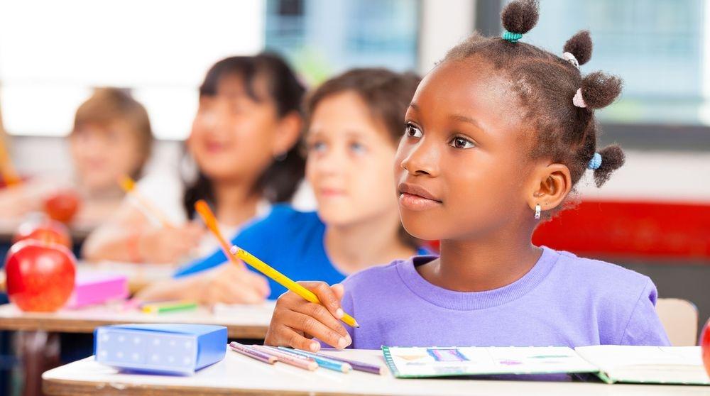 group of children attending a class