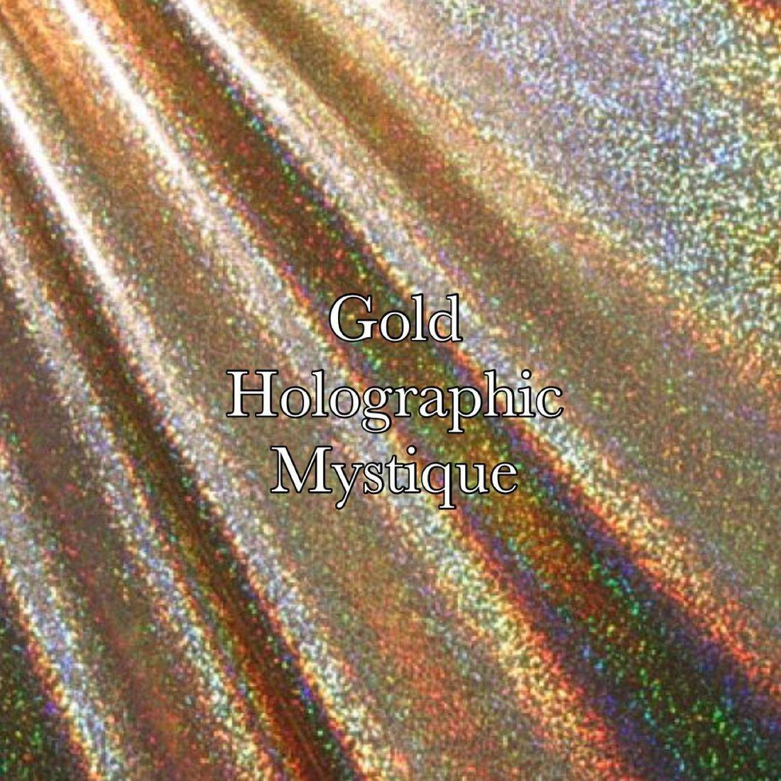Gold holographic mist