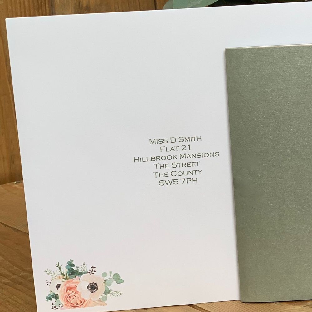 Wedding Invitations with addressed guest envelopes