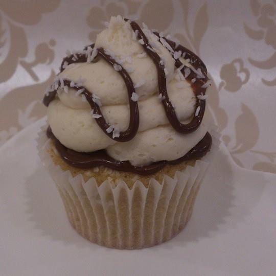 vegan coconut hazelnut chocolate bomb cupcake