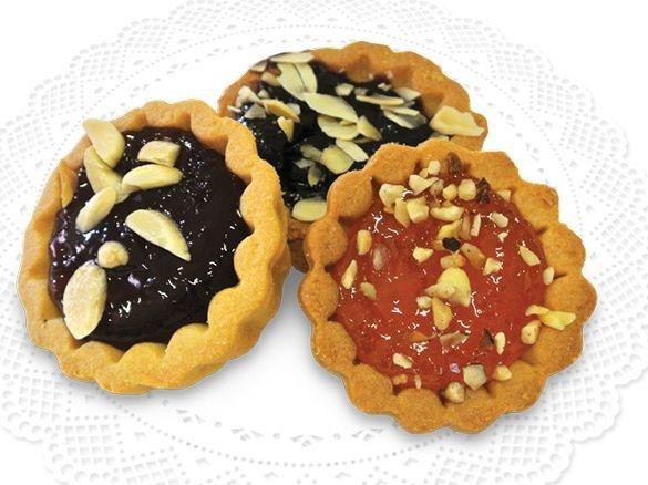 Tartelle Mignon Misto Frutta mit verschiedenen Fruchtfüllungen & Dekorationen