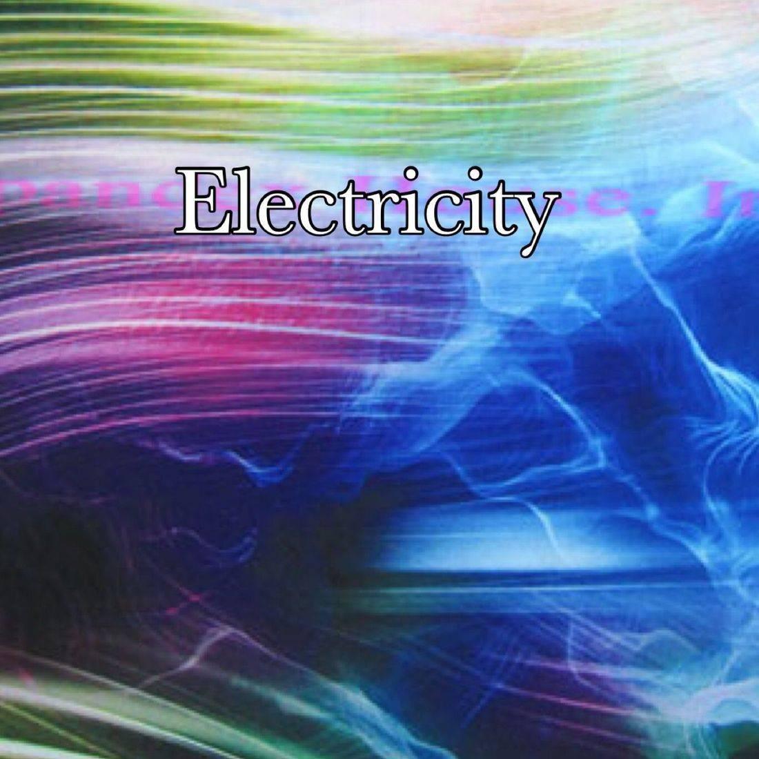 Black electric print