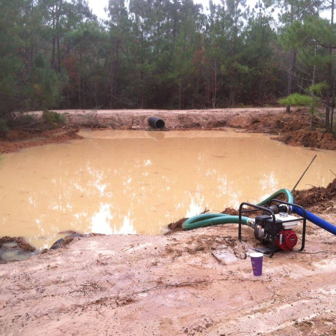 pond development, drainage installation, culvert install, dirt work, pond install