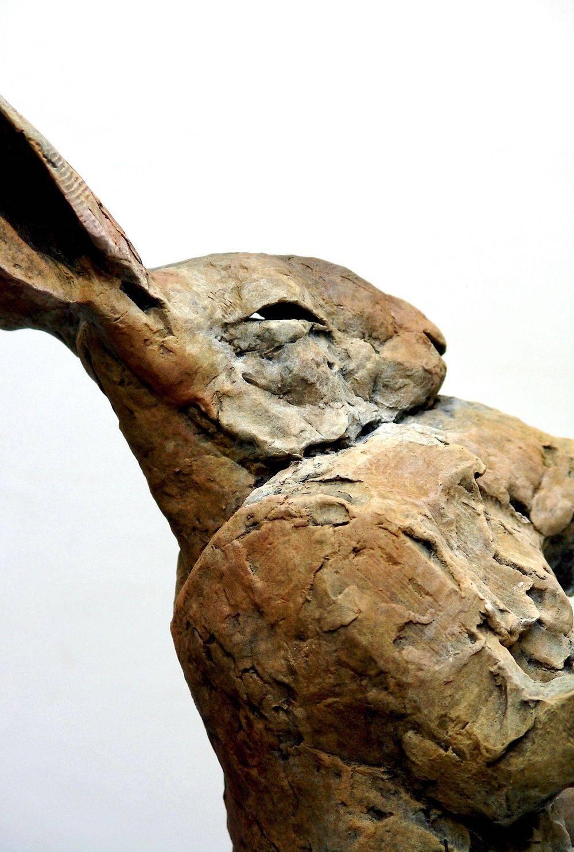 Bronze monkey sculpture