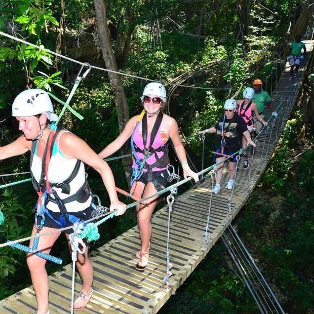 Zip lining, Ocho Rios, Jamaica