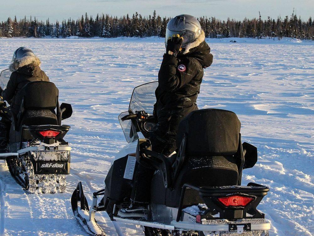 Yellowknife Snowmobiling Tour