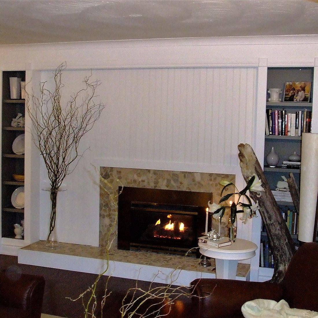 Sibra Kitchens Markham Toronto cabinets fireplace surround HGTV