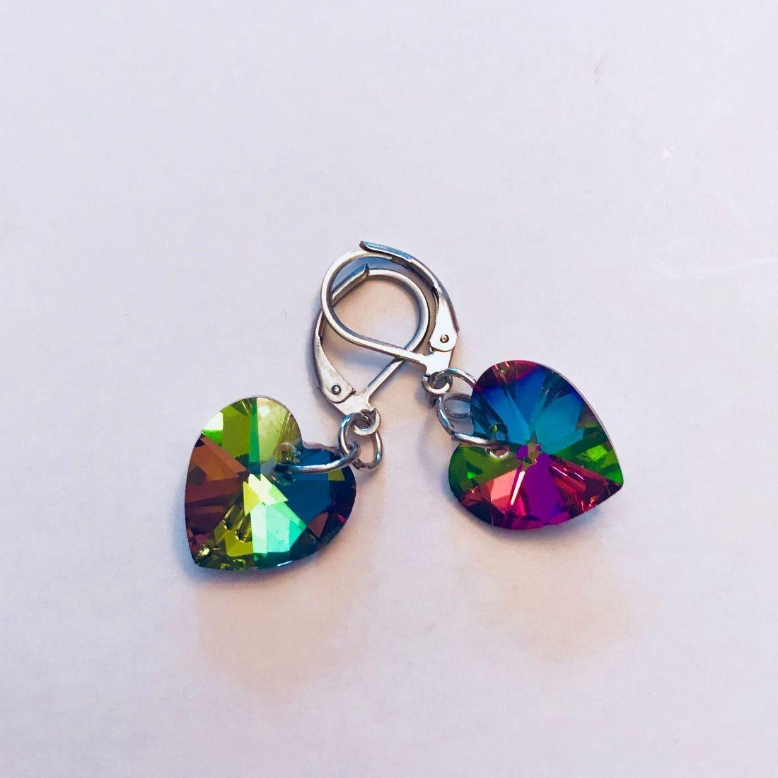 Crystal Heart Earrings (SS)