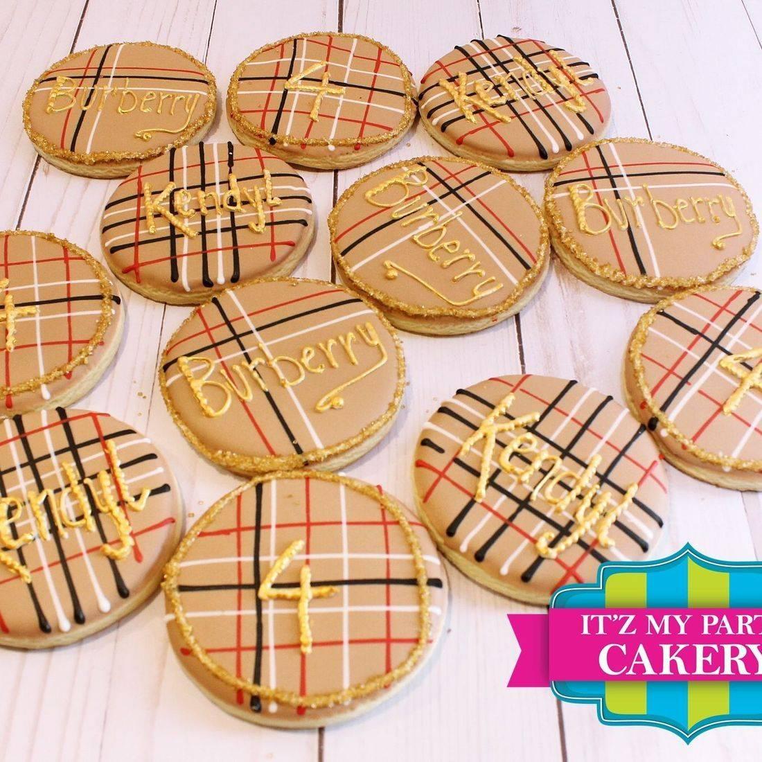 Burberry Inspired Cookies Milwaukee
