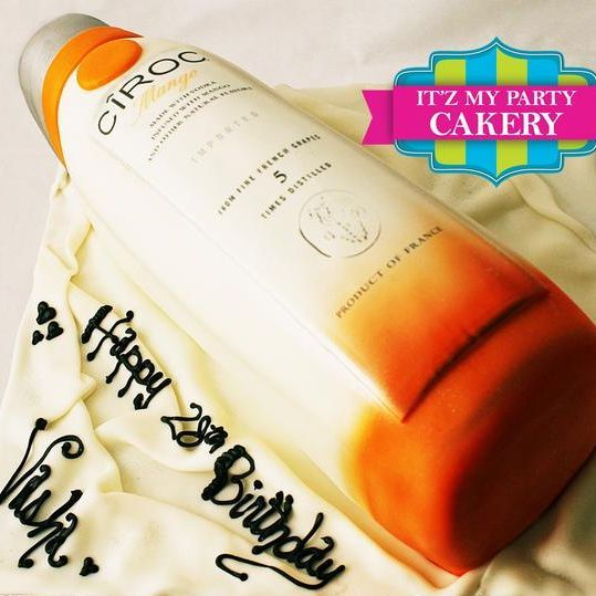 Ciroc Mango Bottle Cake Dimensional Cake Milwaukee