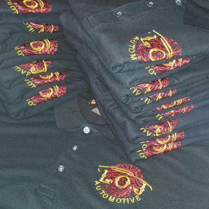 embroidery, business branding, small business, restaurant, Italian, staff, uniforms, apparel