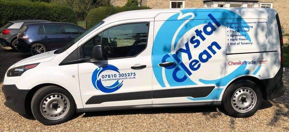 Crystal Clean Ipswich professional carpet cleaning van carpet