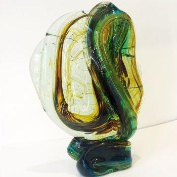 MDINA GLASS KNOT , 25cm h