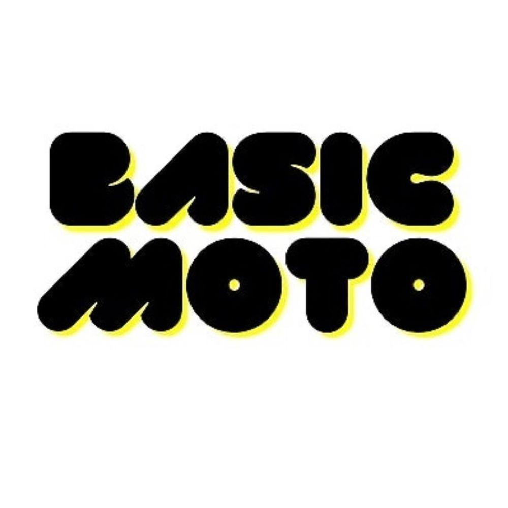 Basic Moto Logo Black Letters with yellow shadow
