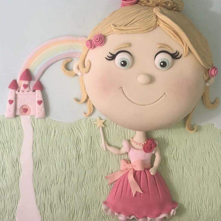 Princess Cake Castle Rainbow Crown Tiara Pretty Bow