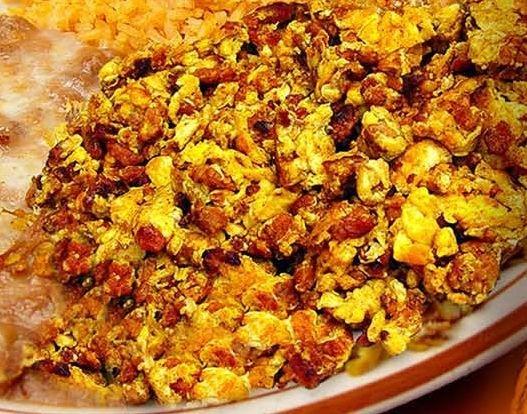 Egg and sausage scramble