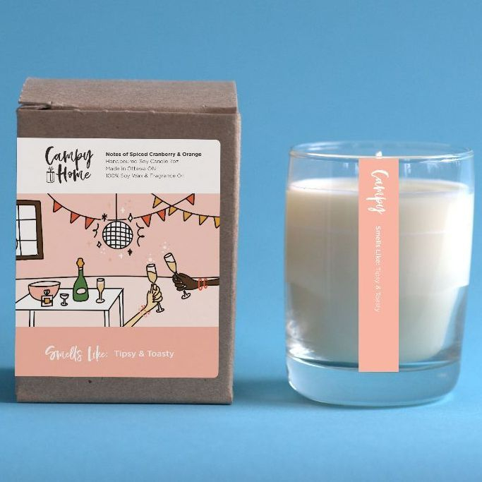campy candles, campy home, campy holiday candle, locally made candles, exhalo spa