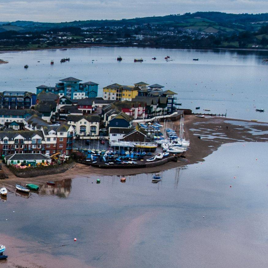 Exmouth docks at high tide.