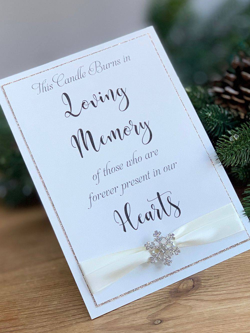In memory of - Wedding Day Sign