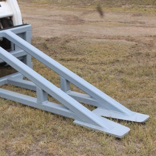 non hydraulic skid steer cedar puller