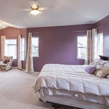 master bedroom, interior design, light & airy, purple