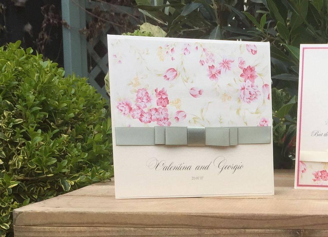Personalised Luxury Vintage Wedding Invitation with Dior Bow