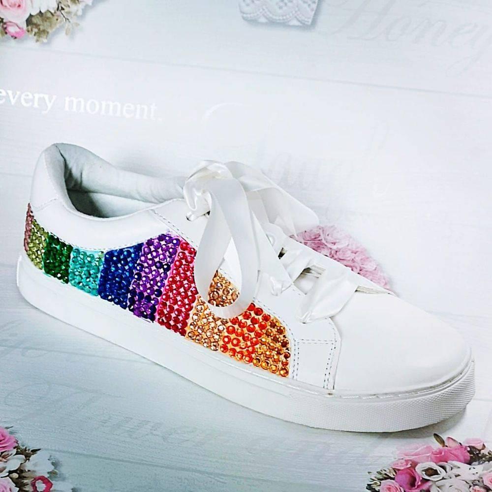 Rainbow crystal trainers