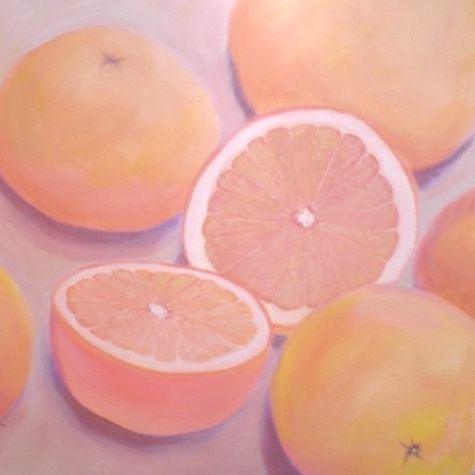 grapefruit painting