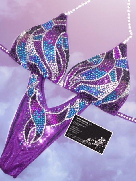 fuchsia purple figure suit