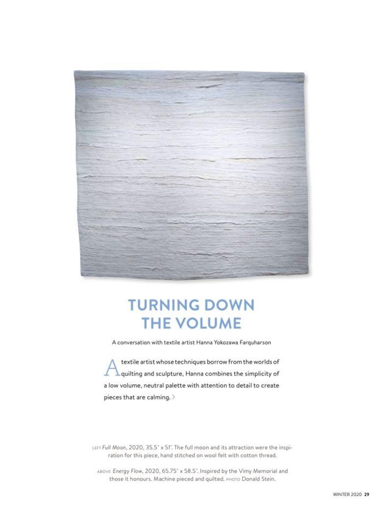 hanna yokozawa farquharson textile art canadian quilter magazine
